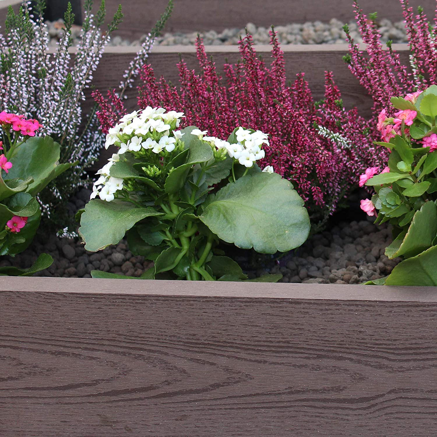 Tenax WPC Flowerbed bordura componibile Decorativa per Giardino Marrone