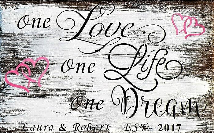 Amazon.com: One Love, One Life, One Dream Romantic Rustic ...