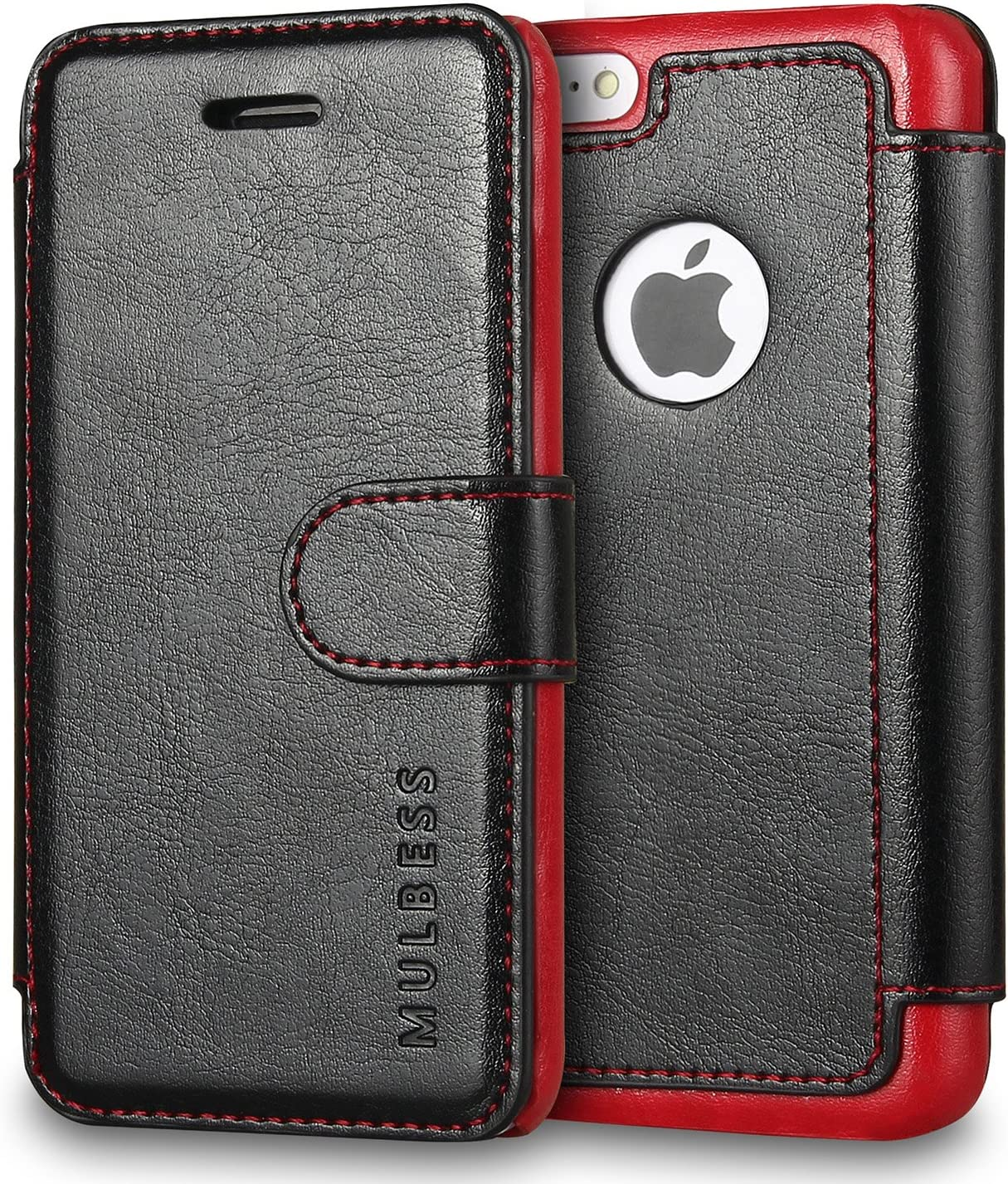 Mulbess Layered iPhone 5c Case Wallet,Folio Flip Leather Phone Case for iPhone 5c Cover, Black