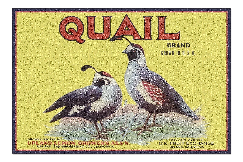 【おトク】 Upland、カリフォルニア – ウズラブランド B076PSZPTW – ヴィンテージラベル( 20 x x 30プレミアム1000ピースジグソーパズル –、アメリカ製。 ) B076PSZPTW, HIGH FASHION FACTORY:702d6f3f --- a0267596.xsph.ru