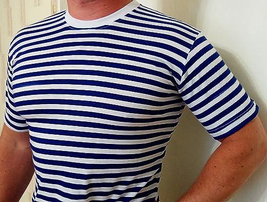 size 40 1e682 071f7 Herren Seemanns blau und weiß gestreift T-Shirt MOD TOP ...