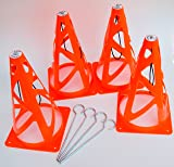 ClipCones Deluxe Soccer Cones with Wind Stakes
