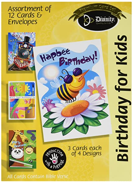 Amazon divinity boutique greeting card assortment birthday divinity boutique greeting card assortment birthday for kids 18035n m4hsunfo