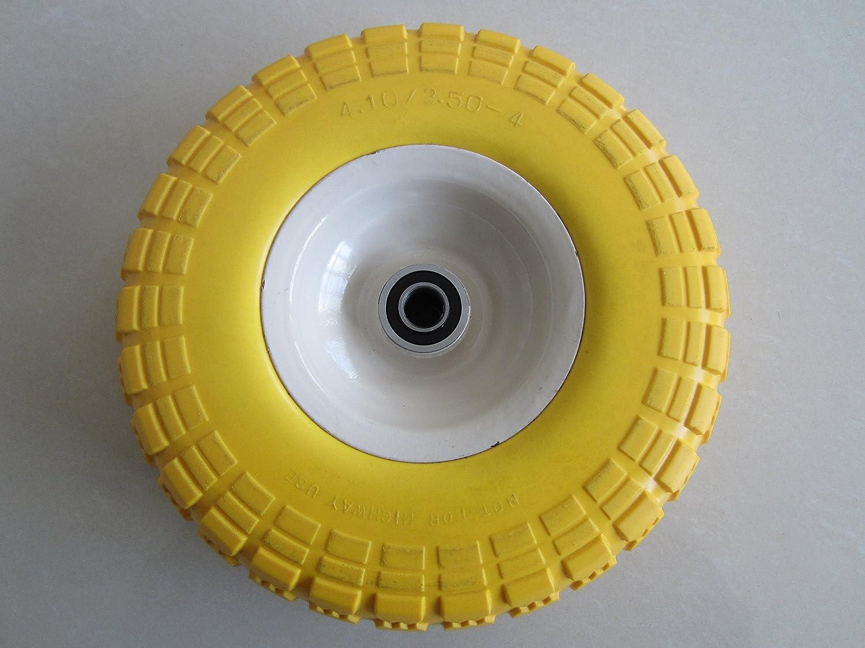 5//8 Ball Bearings 2.25 Offset Hub 10 Tire Diameter,knobby Tread 2.25 Offset Hub 5//8 Ball Bearings 10 Tire Diameter Kunhua Machinery Kunhua 11-pu-y-dh-16p 4.10//3.50-4 Flat Free Hand Truck//Utility Tire