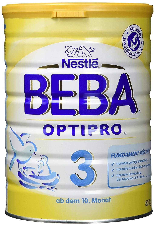 Beba Optipro 3 Folgemilch - nach dem 10. Monat - 6er Pack (6 x 800 g)