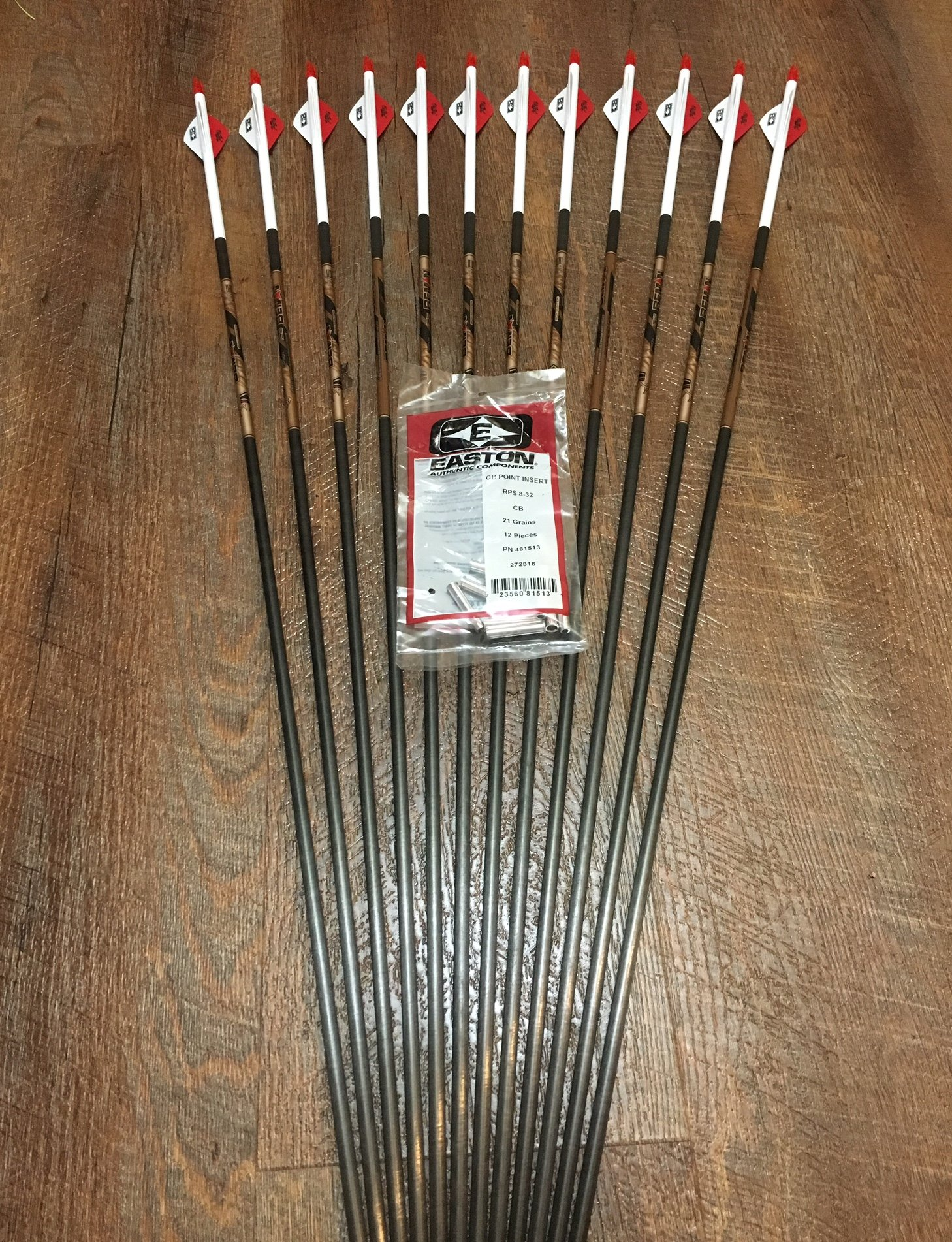 Beman ICS Bowhunter 400 Arrows with Blazer Vanes Custom Made Set of 12