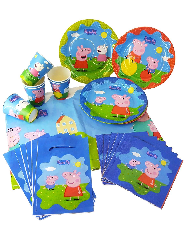 COOLMP - Juego de 3 - Kit de cumpleaños Peppa Pig - 25 ...