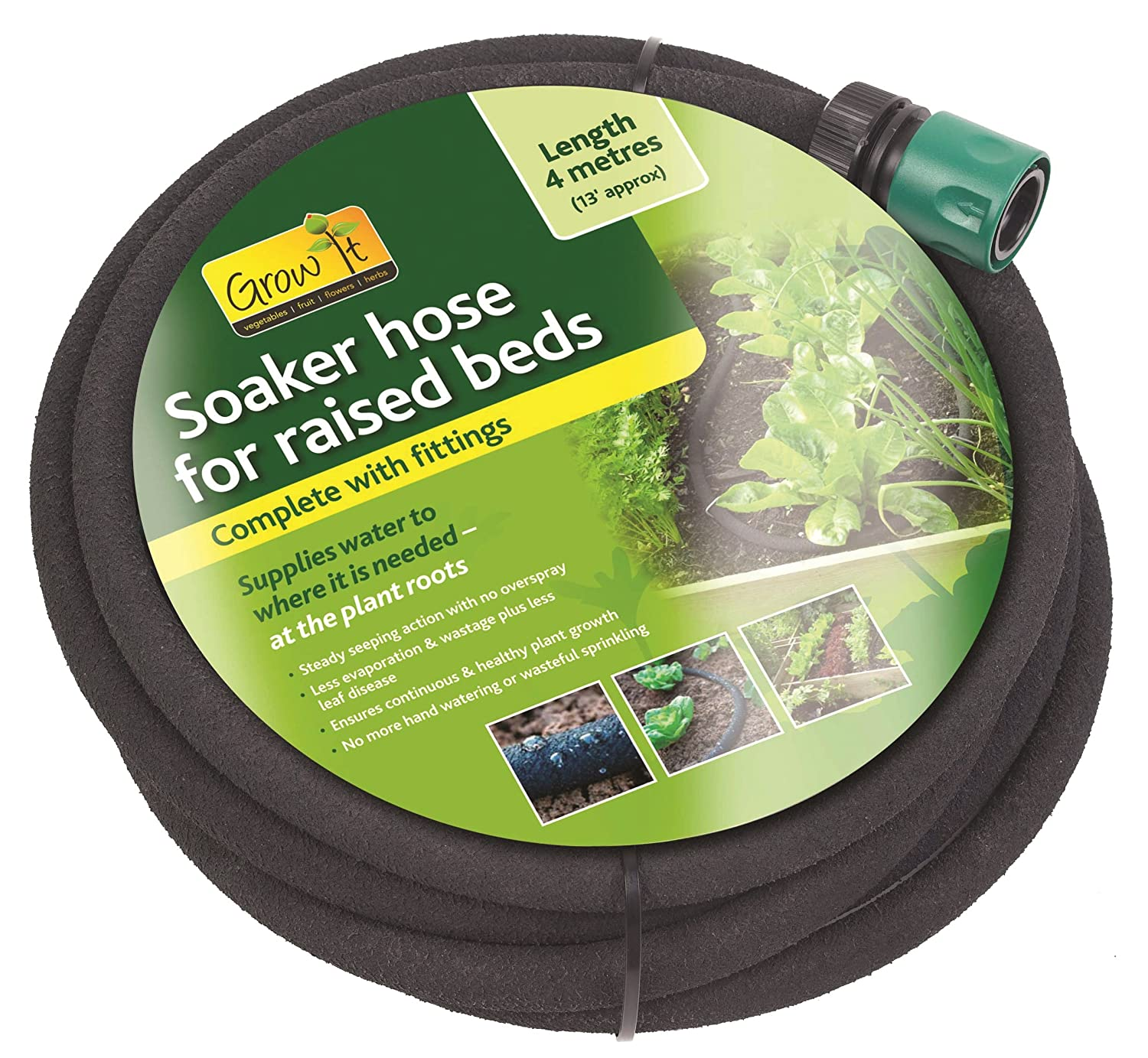 Gardman Soaker Hose for Raised Beds 4 m Black 2 - confezione black 08678