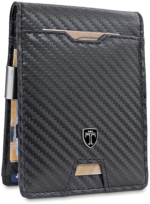 64caf47008 TRAVANDO Portafoglio uomo piccolo sottile con Clip per Contanti AMSTERDAM  Protezione RFID Porta carte di credito