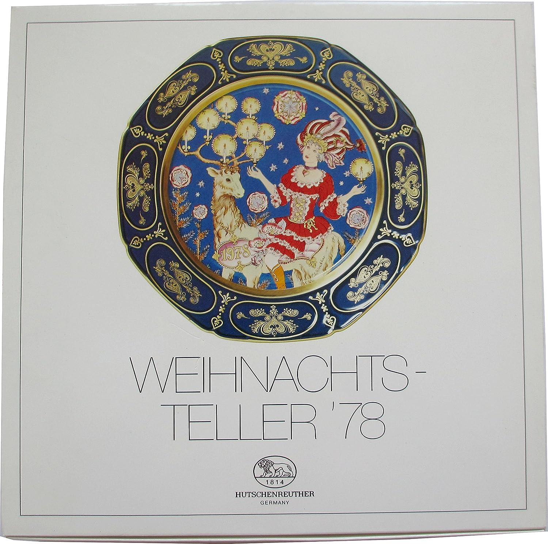 Hutschenreuther Weihnachtsteller Kobalt 1978 Winter-Poesie von Ole Winther