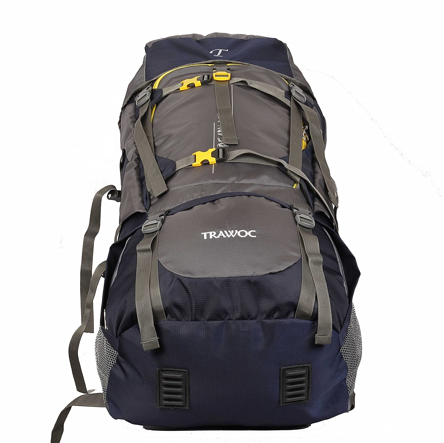 108d3c2f891f4 TRAWOC 60L Travel Backpack for Outdoor Sport Camp Hiking Trekking Bag  Camping Rucksack HK006 (Grey) 1 Year Warranty  Amazon.in  Bags