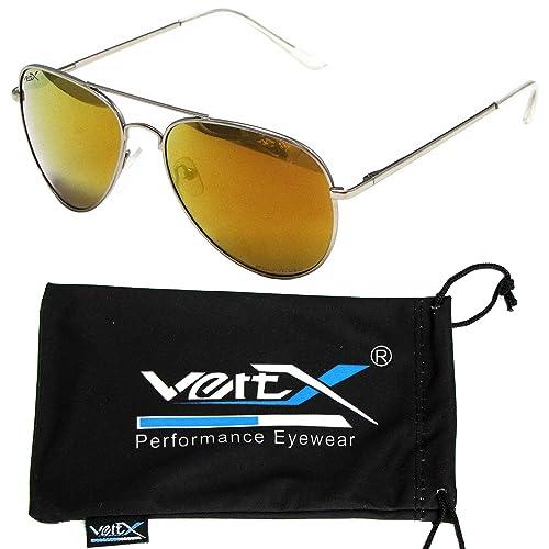 VertX hombres polarizan Aviator gafas de solclásicas lágrima Color espejo