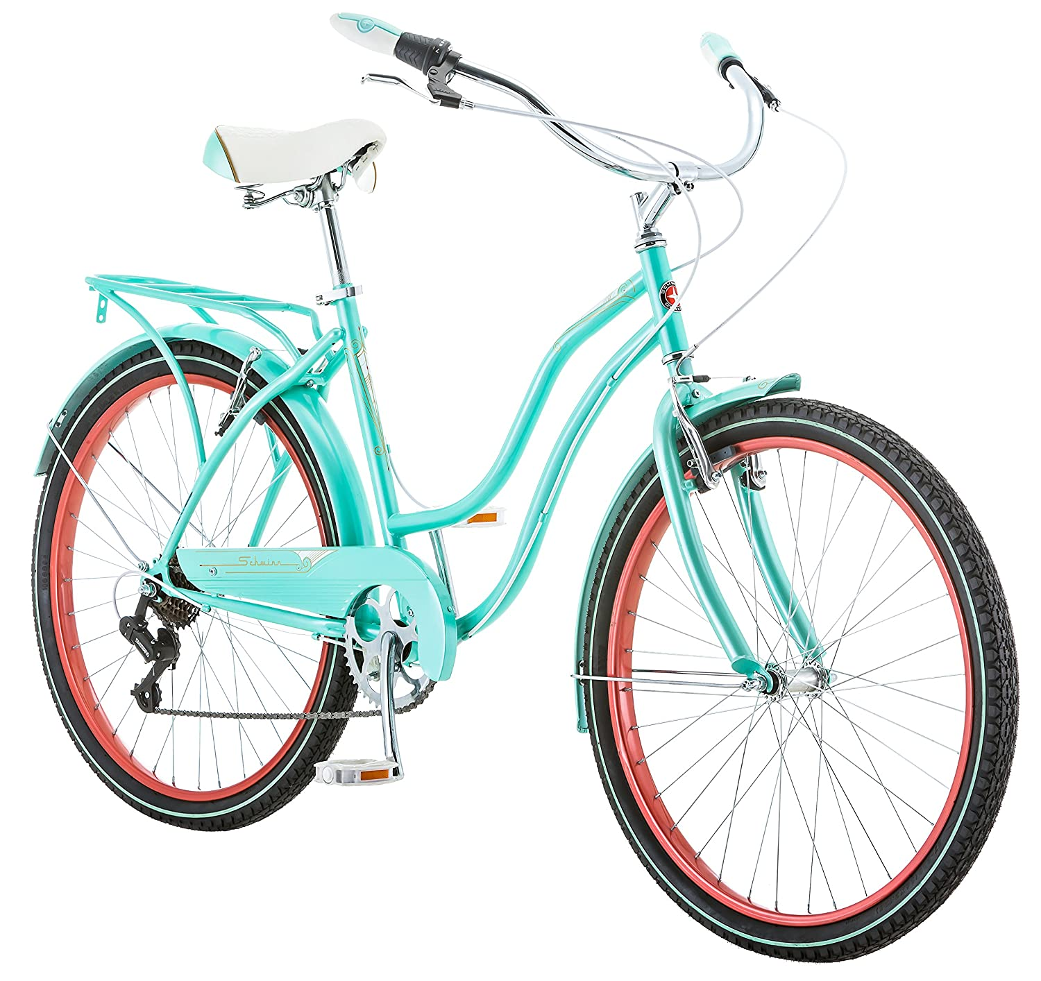 Amazon.com : Schwinn Perla Cruiser Women\'s Bicycle, 26 inch wheel ...
