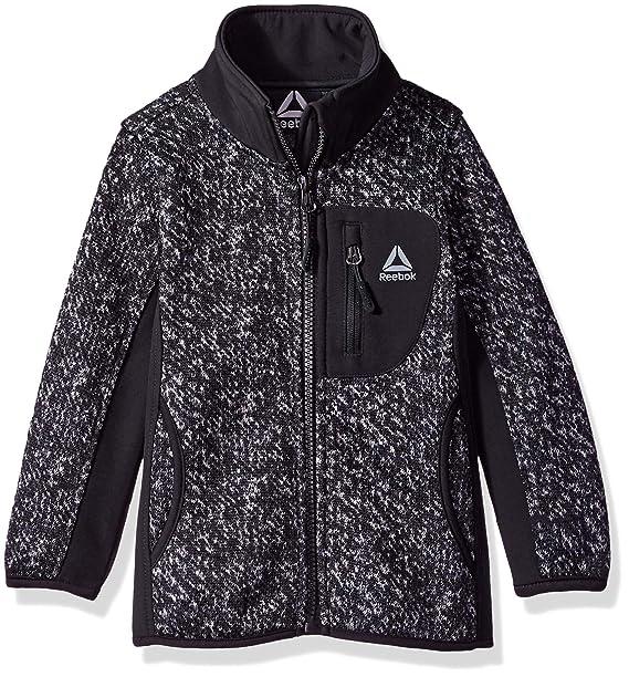 f4f0e2390 Amazon.com  Reebok Girls  Active Texture Sweater Fleece Jacket  Clothing