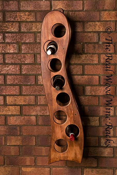 New Real Wooden Wine Rack / Cabinet, 8 Bottles, Rook 8 Calvados Hanging,