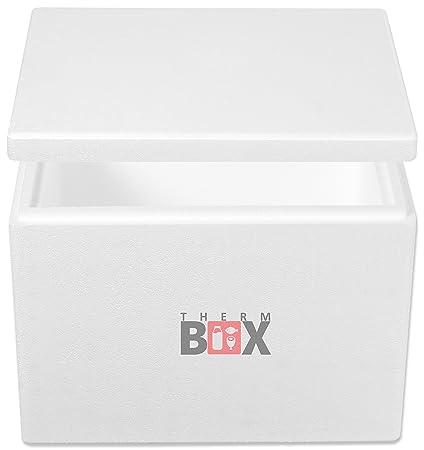 THERM-BOX Caja de Espuma de poliestireno 19W | Interior: 34x23x24cm | Pared: