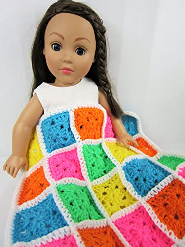 Amazon Com Crochet Doll Blanket Multi Colored Doll Blanket 18