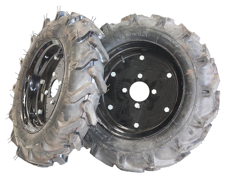 Bricoferr PTMT005 Juego de ruedas agrícolas neumaticas (500 x 12 ...