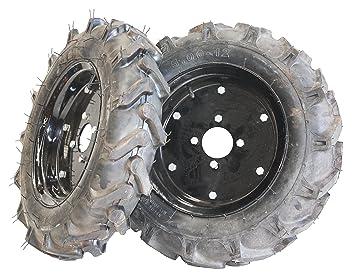 Bricoferr PTMT005 Juego de ruedas agrícolas neumaticas (500 x 12