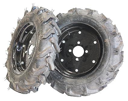 """Bricoferr PTMT005 Juego de ruedas agrícolas neumaticas (500 x 12"""", aperos de motoazada"""