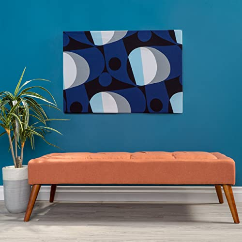 Christopher Knight Home Living Dillon Mid Century Modern Fabric Tufted Top Bench Ottoman Orange