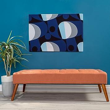 Wondrous Christopher Knight Home 298888 Living Dillon Mid Century Modern Fabric Tufted Top Bench Ottoman Orange Inzonedesignstudio Interior Chair Design Inzonedesignstudiocom