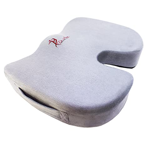 Dr Anna Luxury Coccyx Orthopedic Memory Foam Seat Cushion Best Coccyx Orthopedic Support For Office Chair Car Truck Wheelchair Seat For Back Pain