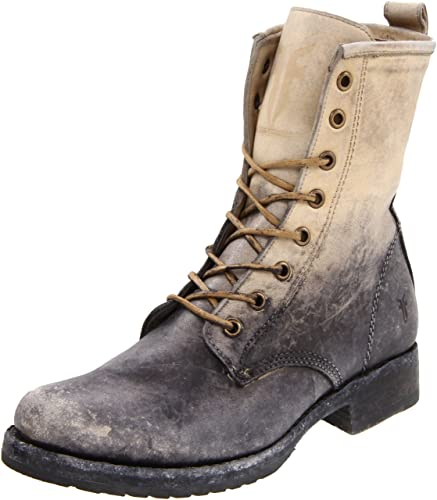 d38369f4d FRYE Women's Veronica Combat Boot, Stone Stone Washed, ...