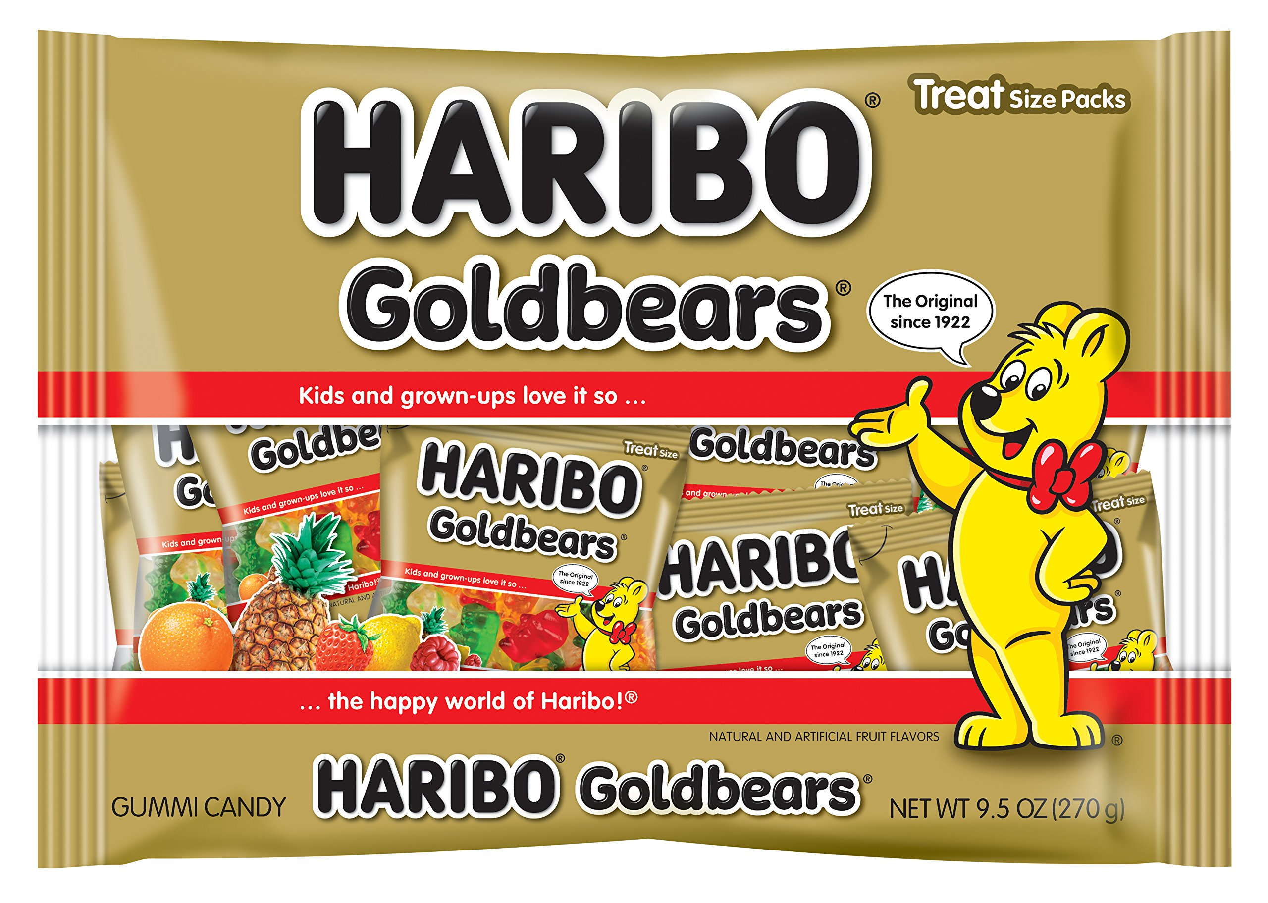 Haribo Goldbears Gummi Candy Treat Bags, Individually Wrapped Mini Bags, 9.5 Ounce (Pack of 1) by Haribo