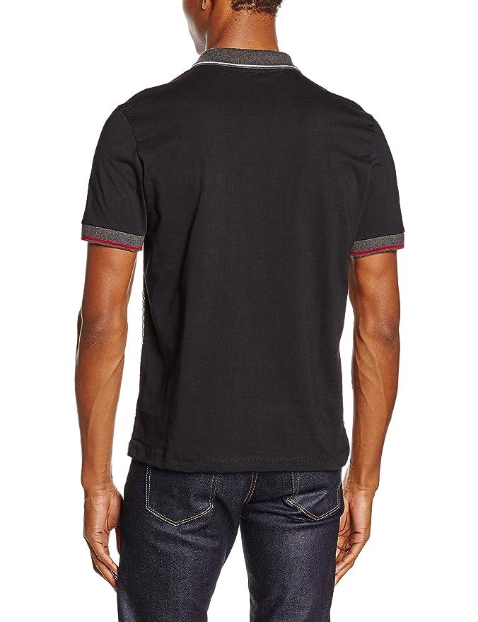 Merc of London Rishton, Polo para Hombre, Negro (Black), S: Amazon ...