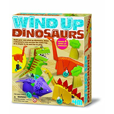 4M- Dinosaurios Wind Up Dinosaurs Papiroflexia (404639): Juguetes y juegos
