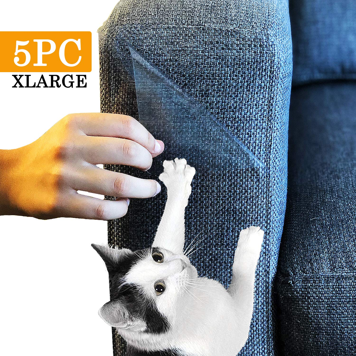 Amazing Shields - Five (5) X-Large Furniture Protectors from Cats - Cat Repellent for Furniture - Cat Scratch Deterrent - Cat Couch Protector - Scratch pad - Cat Couch(17'' L X 12'' W)
