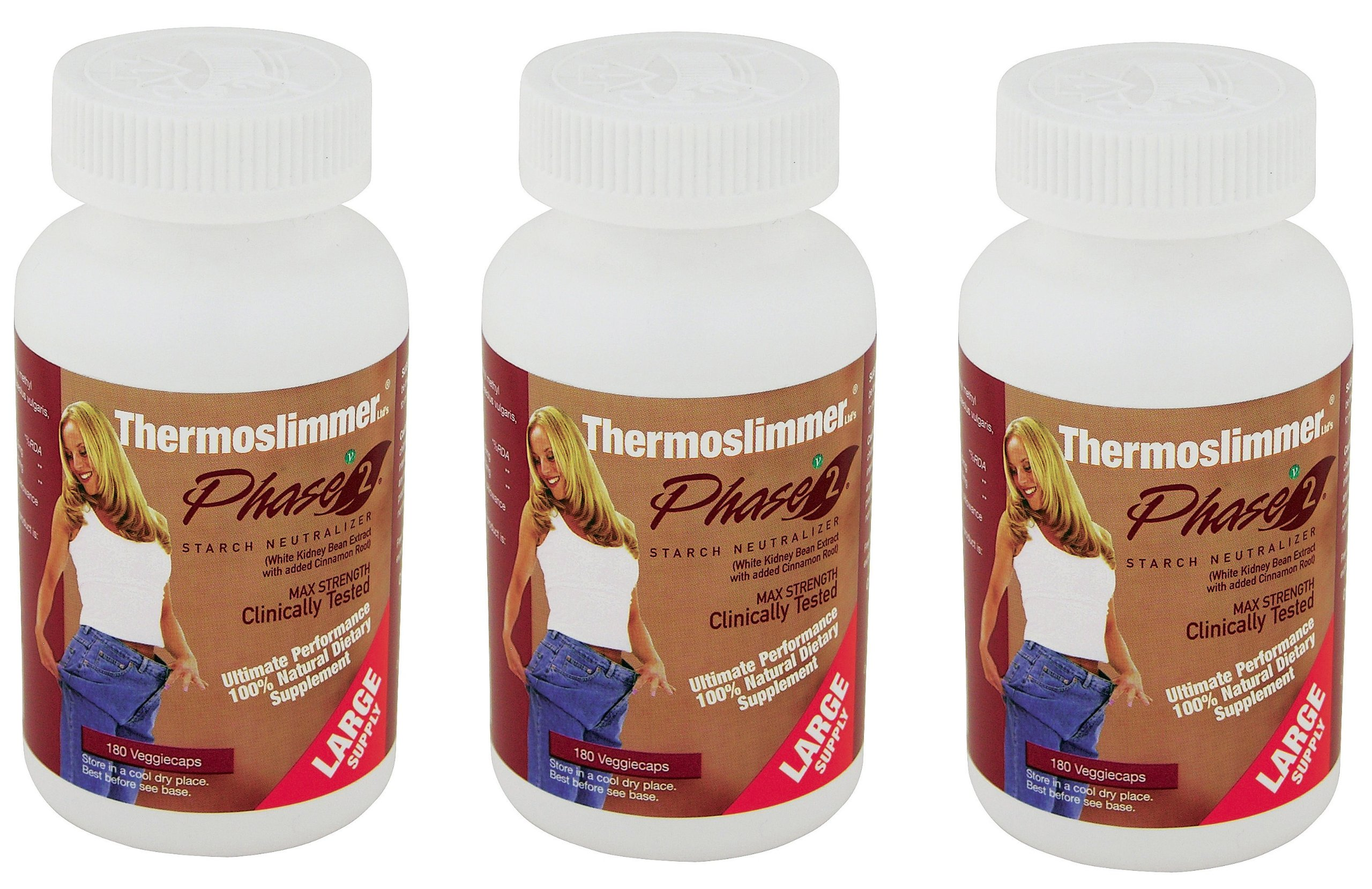 Three Packs of Thermoslimmer Phase 2 Supplement Large Supply