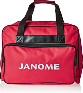 Janome Red Universal Sewing Machine Tote Bag, Canvas