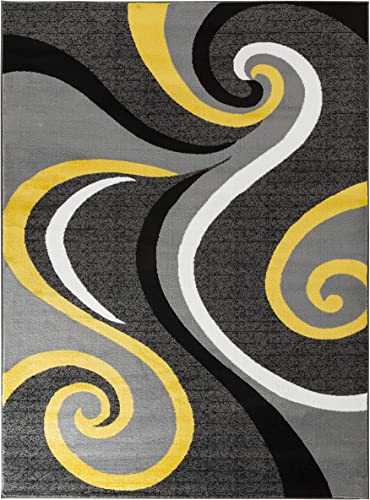 Rugs and Decor Metro 1002 8X11 area rugs, 8 x11 Actual Size is 7 .2 x 10 .6 , Yellow