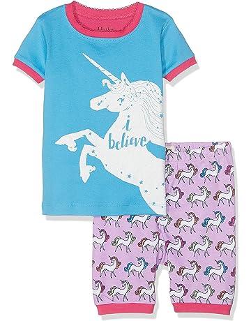 Hatley Girl s 100% Organic Cotton Short Sleeve Appliqué Pyjama Set f97679303