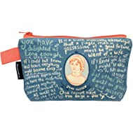 """Jane Austen Bag - 9"""" Zipper Pouch for Pencils, Tools, Cosmetics and More"""