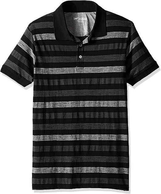 Lee Hombres Camisa Polo - Negro - Medium: Amazon.es: Ropa y accesorios
