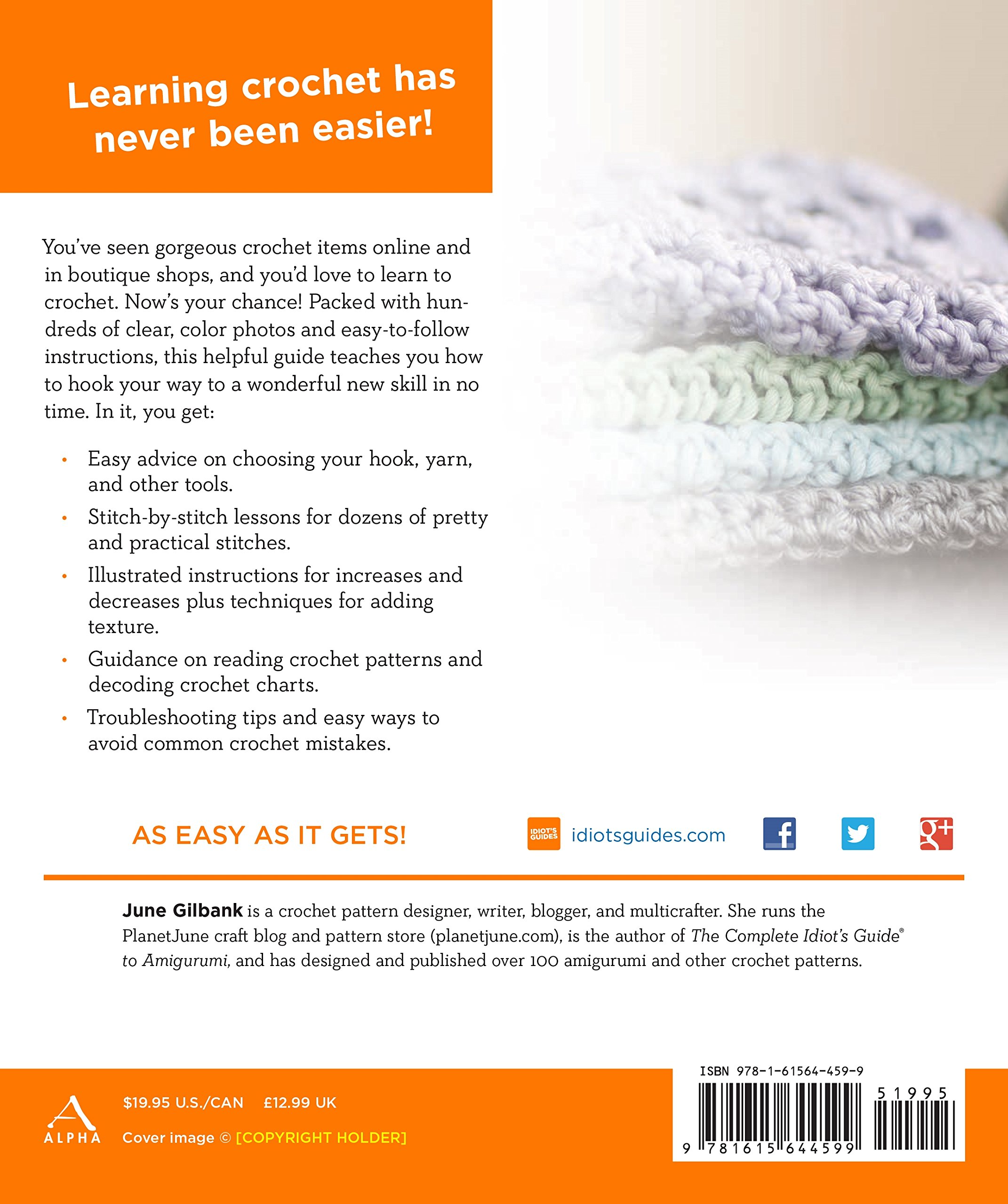 Crochet Idiots Guides June Gilbank 9781615644599 Amazon Books