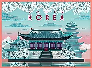 South Korea in Winter Korean Asia Asian Retro Travel Home Collectible Wall Decor Advertisement Art Deco Poster Print. 10 x 13.5 inches