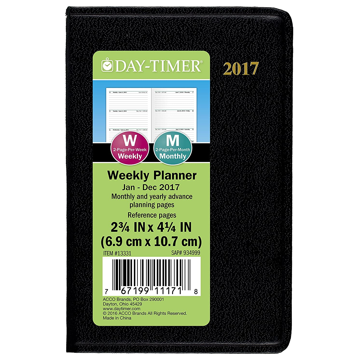 Amazon DayTimer Mini Weekly Planner Appointment Book 2017 – Daytimer Planner