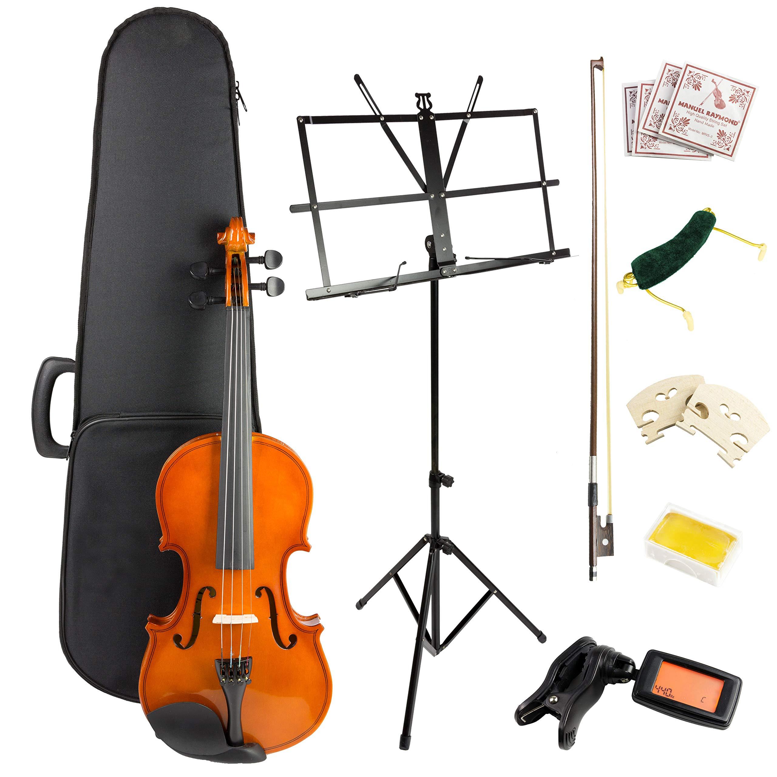 Windsor 4 Violin Super Kit, includes Case, Bow, 2xRosin 2X Bridge, spare Strings, Digital tuner, Music Stand & Shoulder Rest (VIOLINSK44) by Windsor