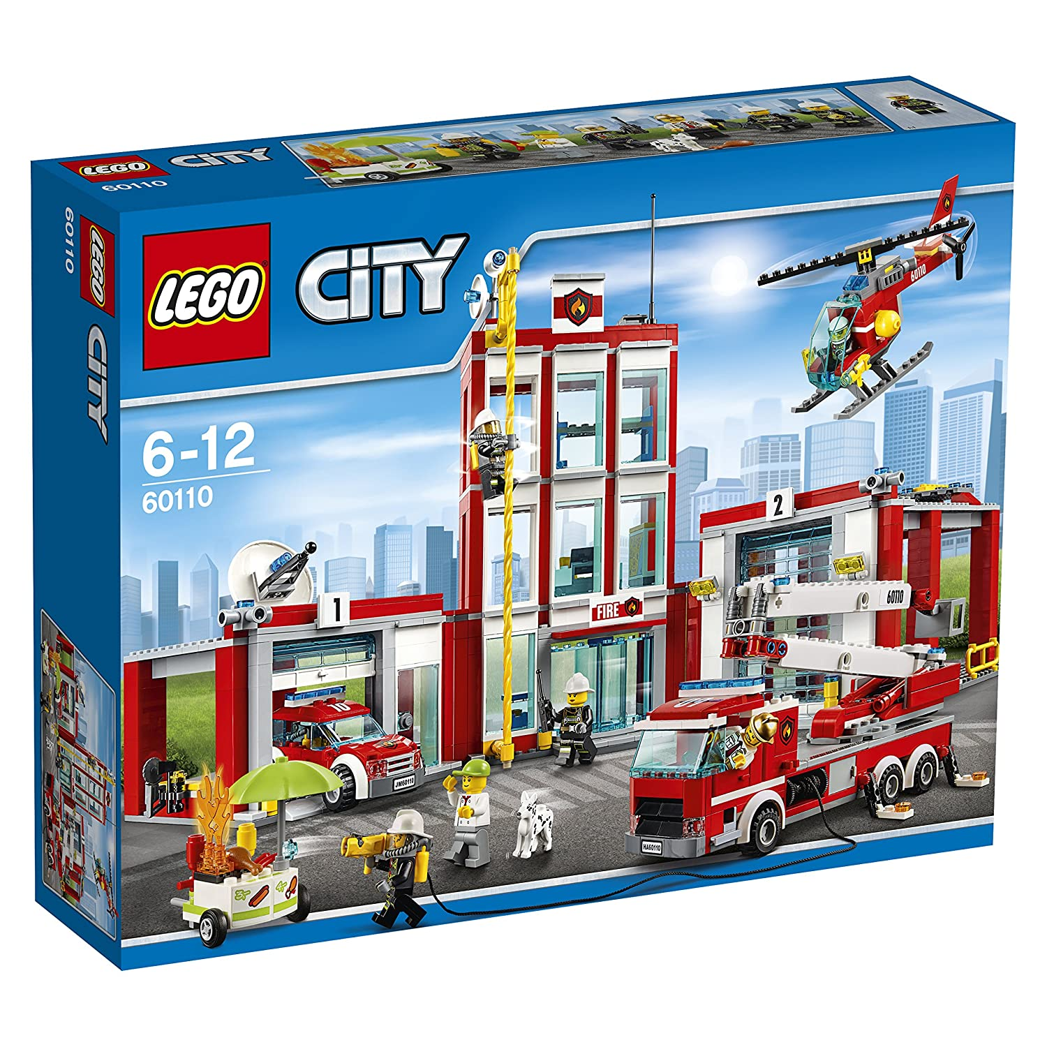 buy lego fire station multi color online at low prices in india amazonin - Lego City Pompier