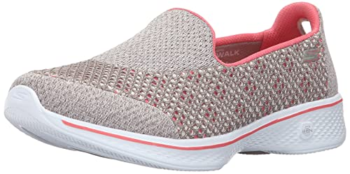Kindle Walking Shoe, Taupe/Coral