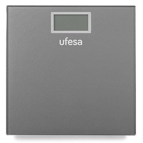 Ufesa BE0906 Báscula personal electrónica Rectángulo Gris - Báscula de baño (Báscula personal electrónica,