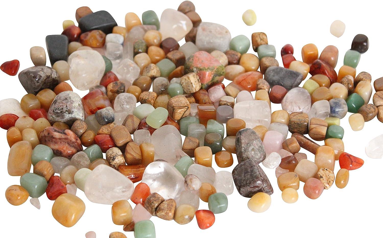 Homeshop3000 Piedras Preciosas Rodadas Bolsa Grande 500g Piedras y Minerales Naturales