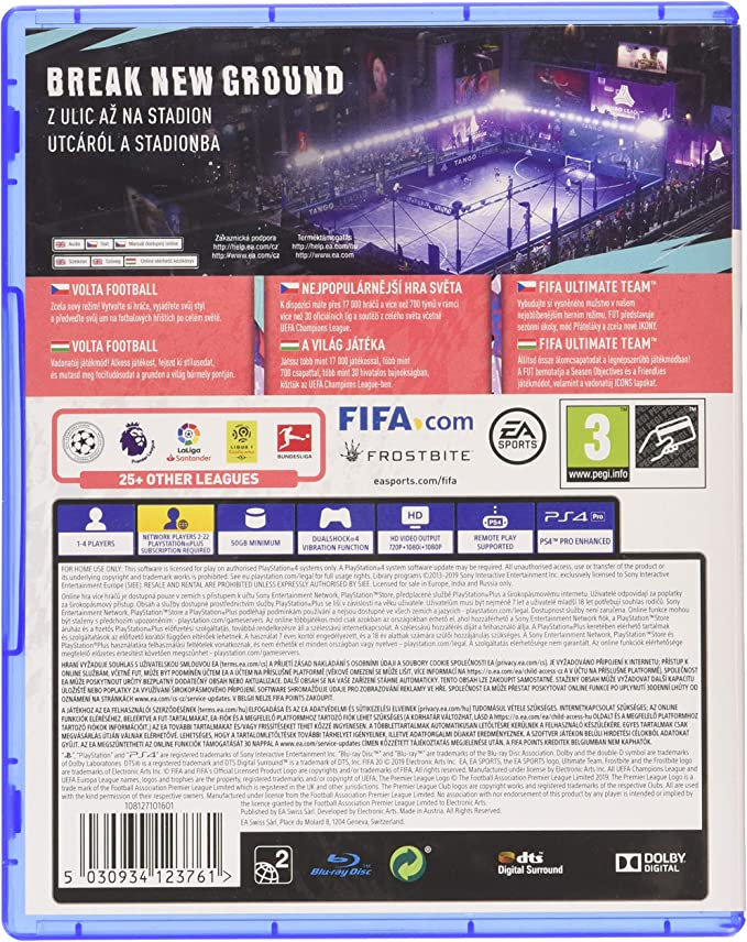 FIFA 20 PlayStation 4 - Czech Version: Amazon.es: Videojuegos