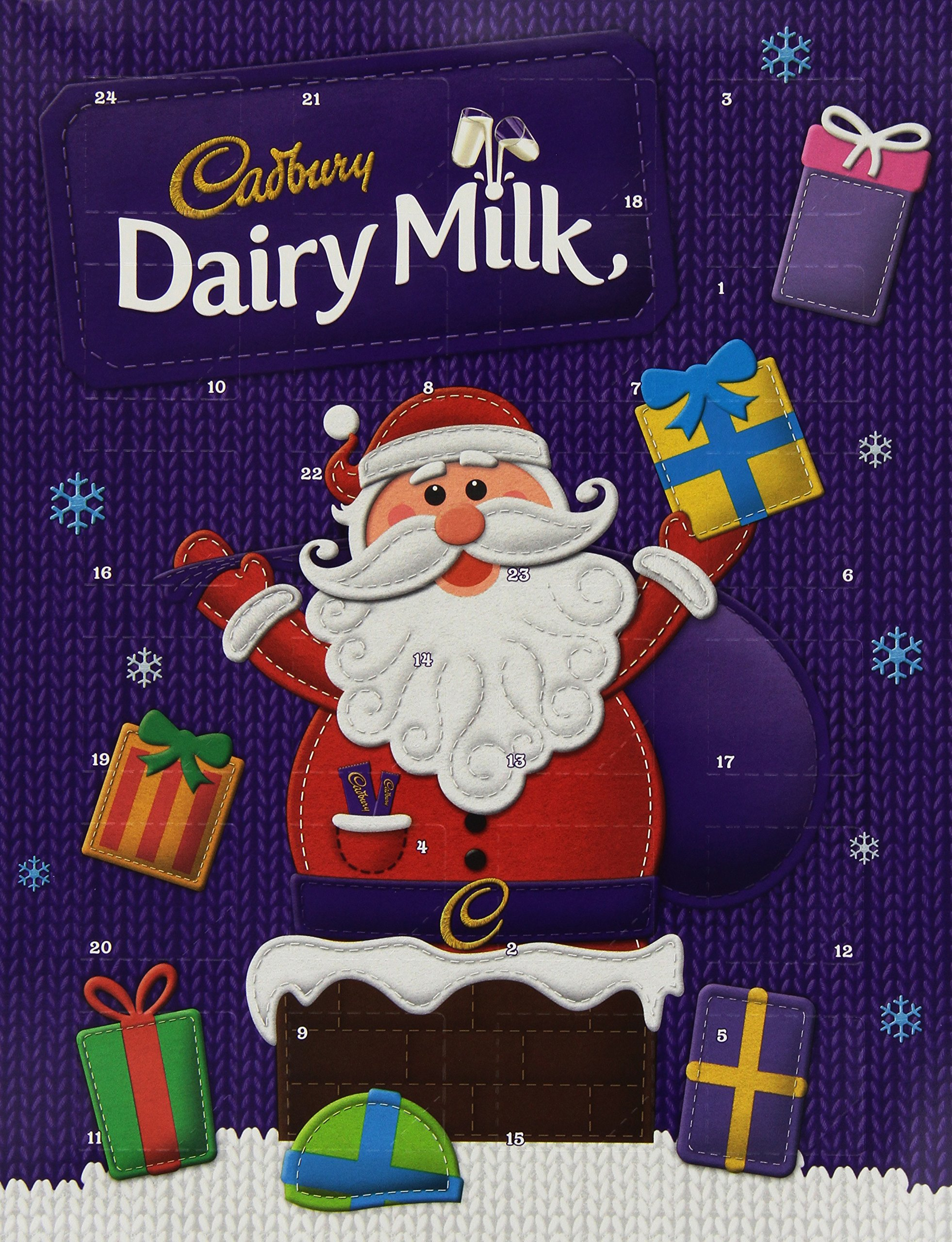 Cadbury Dairy Milk Chocolate Advent Calendar 90 Grams (Pack of 6)