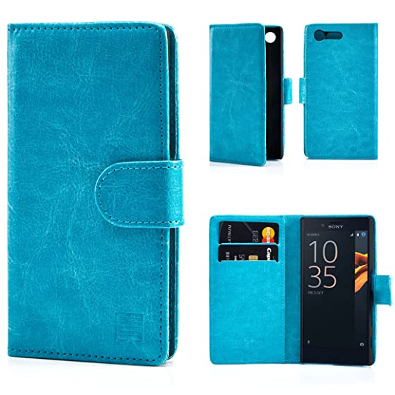 brand new bf8c9 23735 Case for Sony Xperia X Compact by 32nd Premium PU Leather Book Wallet Style  Case Cover - Light Blue