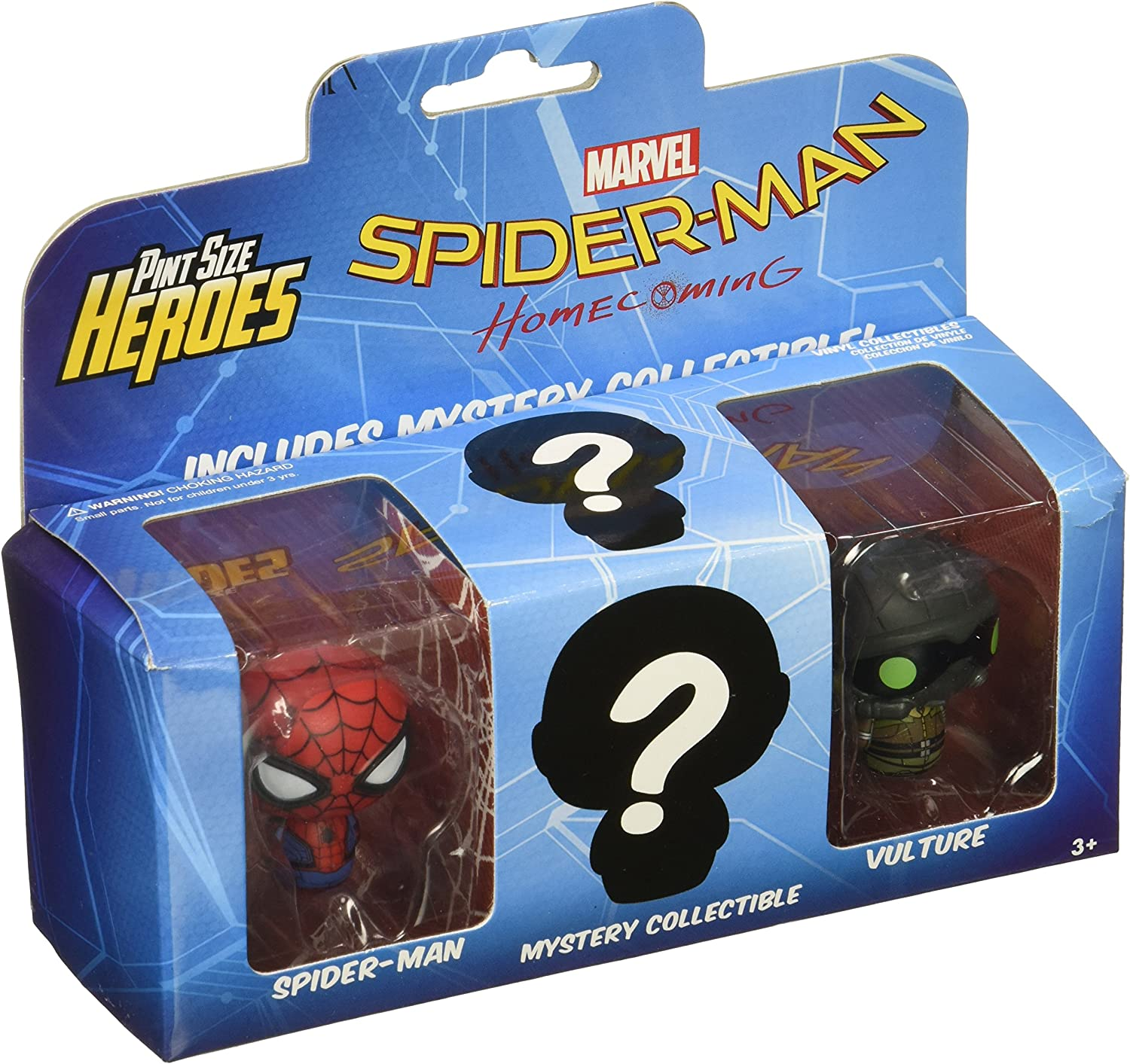Funko Pint Size Heroes Spider-Man Homecoming 3 Pack 13439 Spider-Man, Buitre y 1 Figura misteriosa: Funko Pint Size Heroes:: Amazon.es: Juguetes y juegos